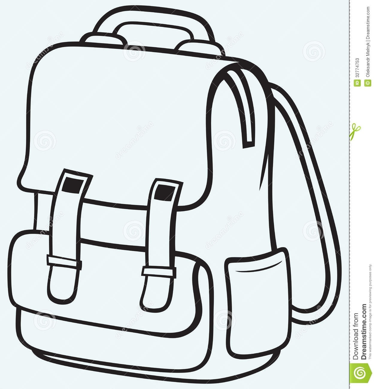 Backpack clipart plain. Black and white letters