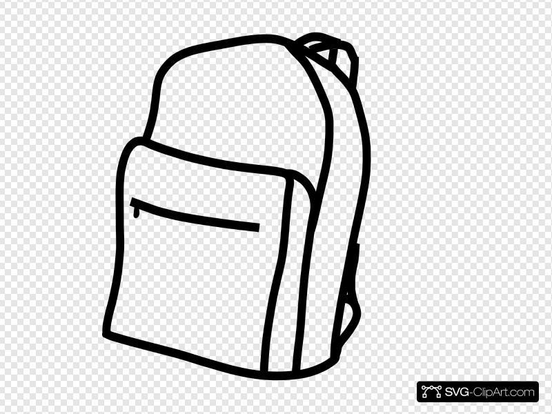 Backpack clipart plain. White clip art icon