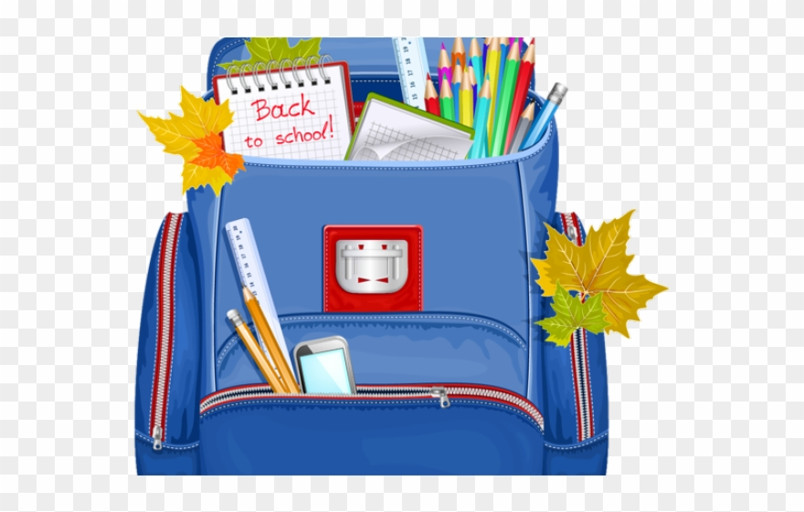 Backpack clipart primary school.