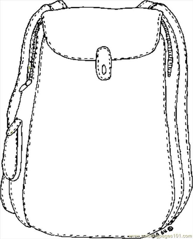 Bookbag clipart empty backpack. Free printable coloring pages