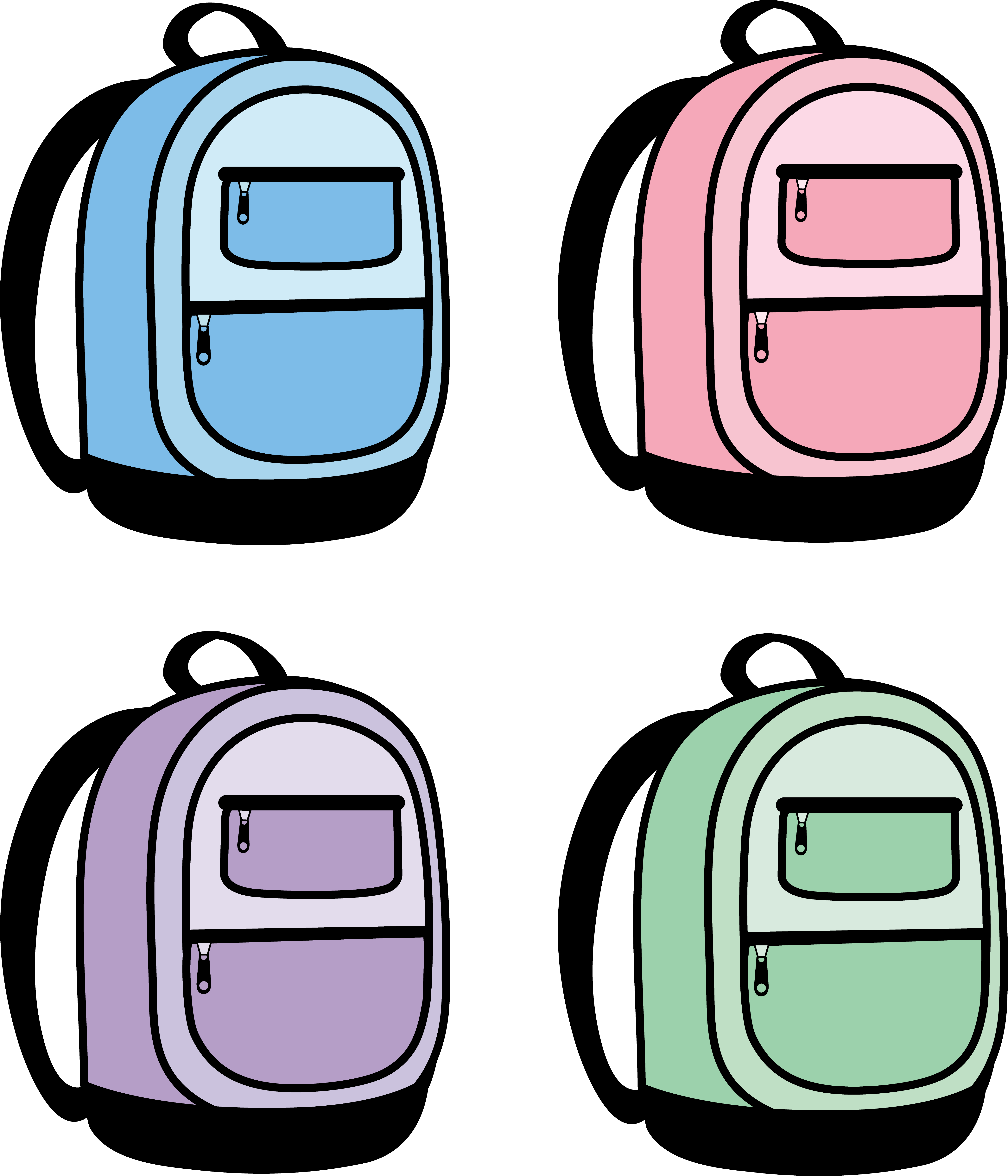 Backpack panda free images. Luggage clipart lugagge