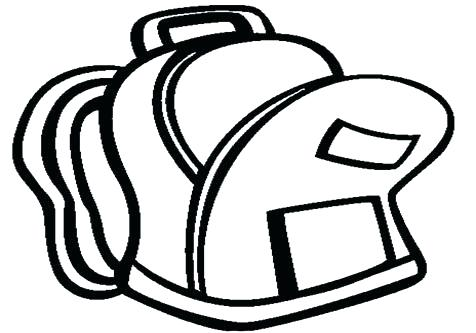 Coloring pages page school. Backpack clipart printable
