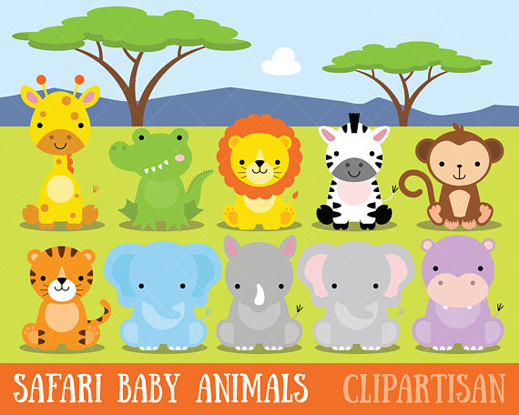 Baby animals jungle zoo. Backpack clipart safari