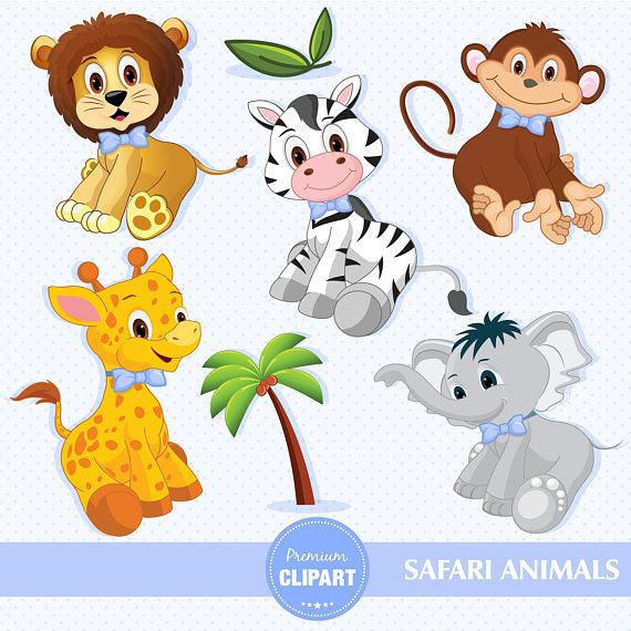 Baby boy animals digital. Backpack clipart safari