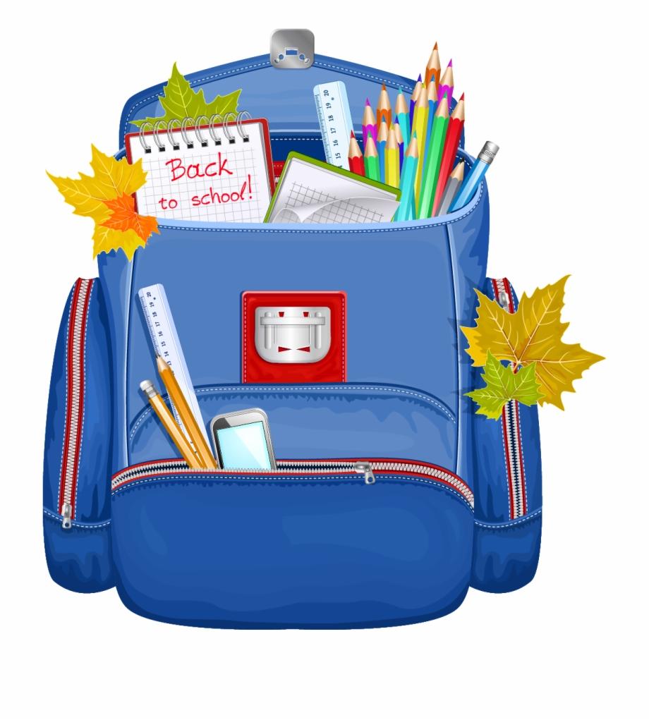 Boy wearing a clip. Backpack clipart school bag