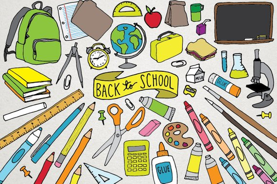 Back to supplies science. Backpack clipart school supply