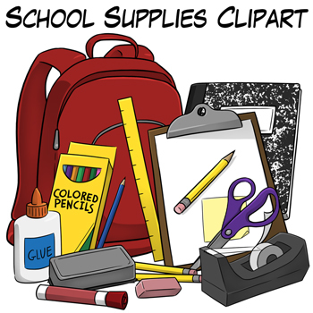 Backpack clipart school supply. Supplies clip art