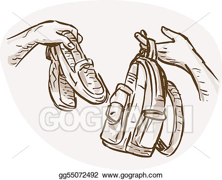 Backpack clipart shoe. Clip art hands barter