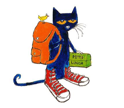 All ages meet pete. Backpack clipart shoe