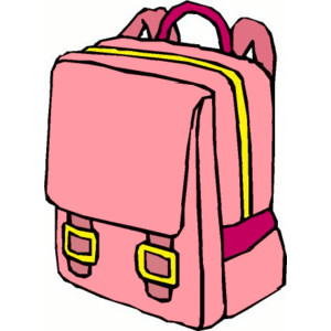 collection of on. Backpack clipart shoe