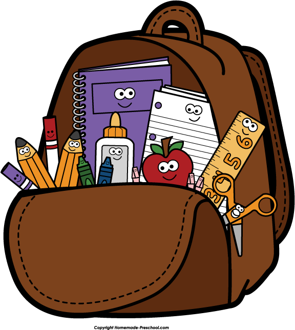 Bookbag clipart open. Free packing shoes cliparts