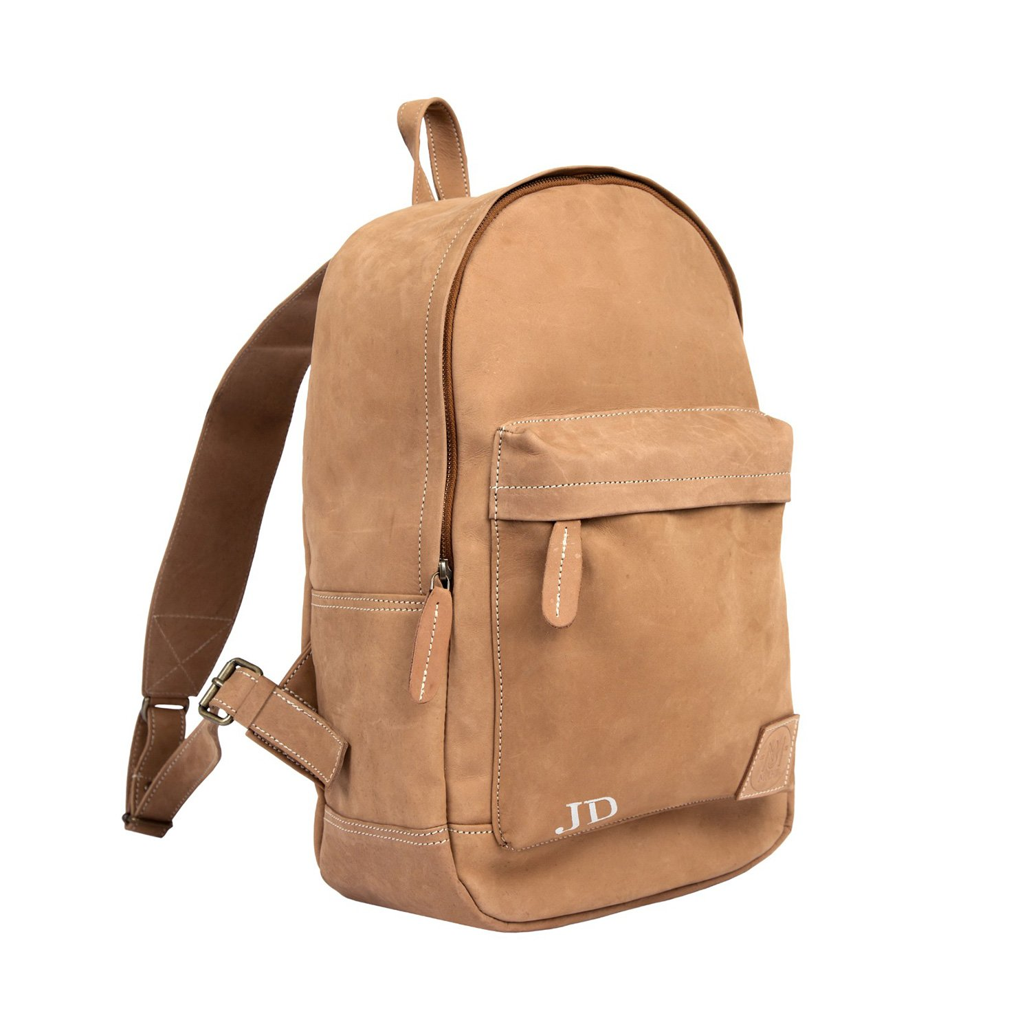 Backpack clipart side view. Suede leather for work