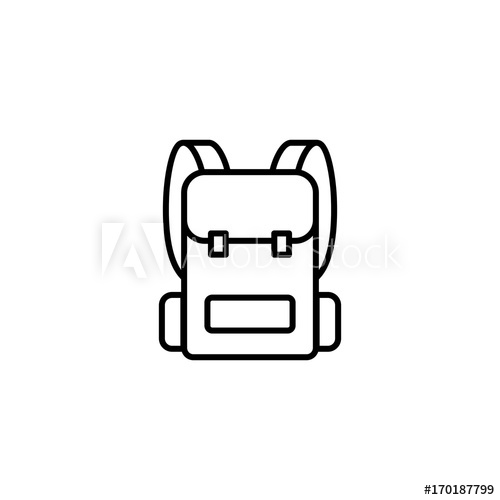 Backpack clipart side view. Free download clip art