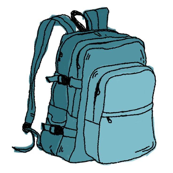 best book bag. Backpack clipart simple