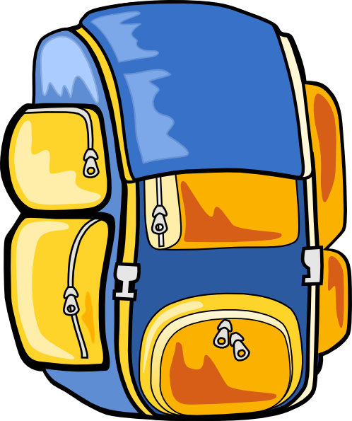 Backpack clipart sleeping bag. Hiking with panda free