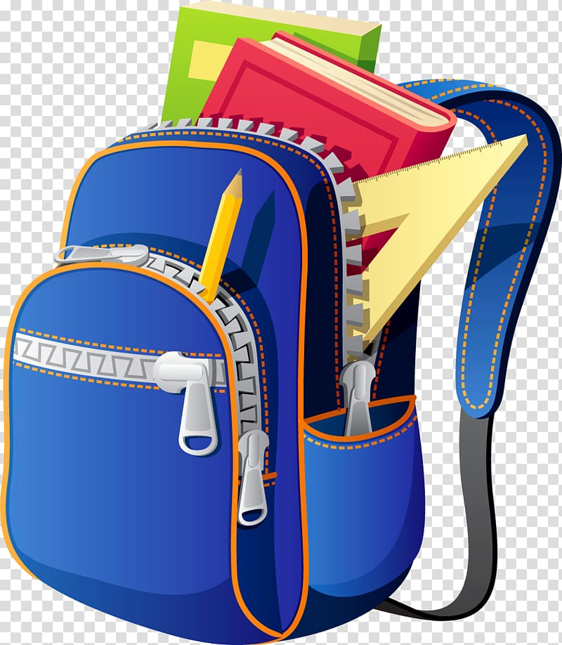 School png . Backpack clipart transparent background