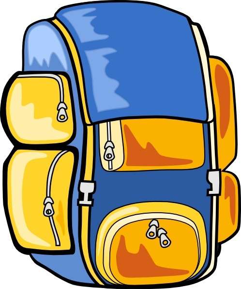 Clip art free in. Backpack clipart vector