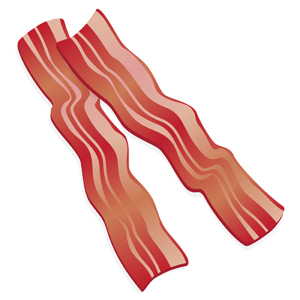 Bacon clipart. Cartoon