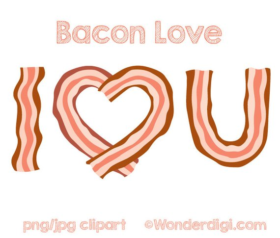 Bacon clipart. Love clip art i