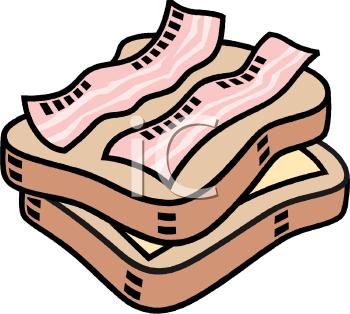 Sandwich image foodclipart com. Bacon clipart