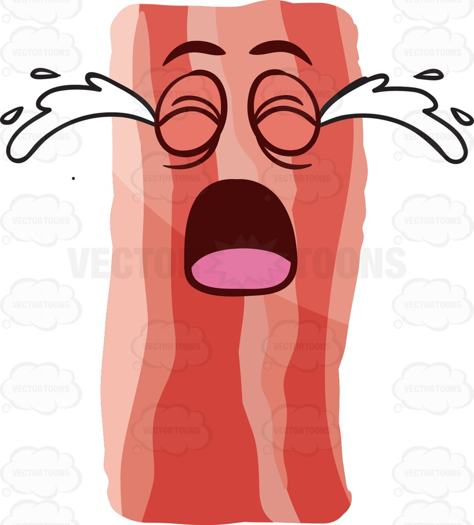 Bacon clipart animated. Group a crying strip