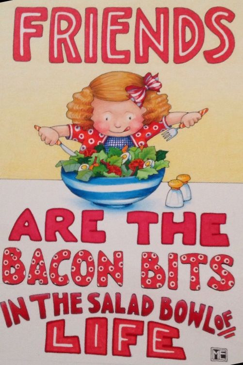 Friends are the bits. Bacon clipart bacon bit