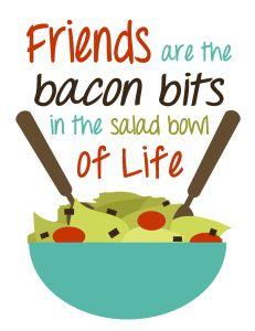 Bacon clipart bacon bit. Best friends bits x