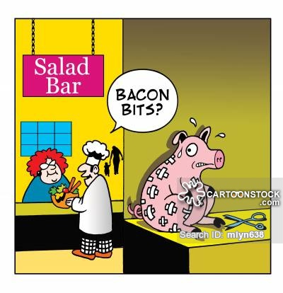Bits cartoons and comics. Bacon clipart bacon bit