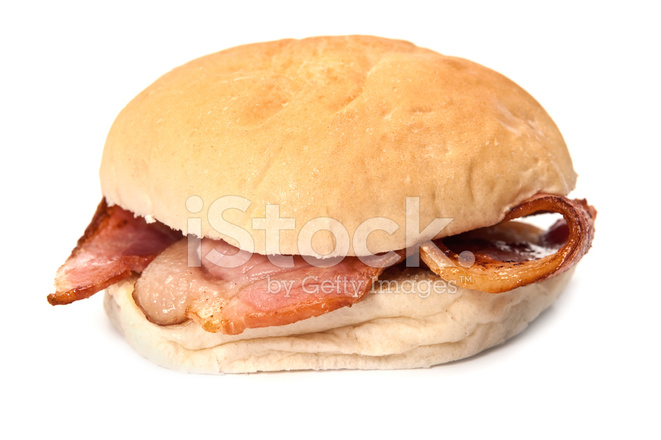 Bacon clipart bacon butty. Roll stock photos freeimages