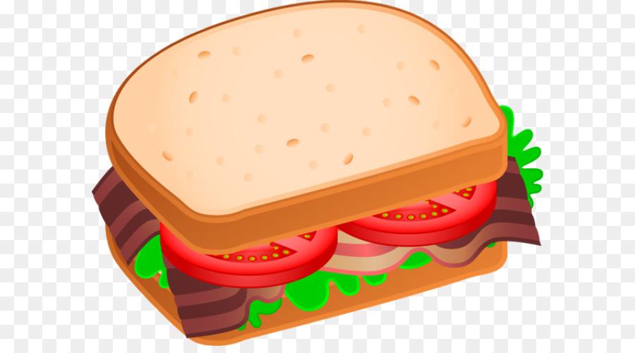 Blt submarine sandwich club. Bacon clipart bacon butty