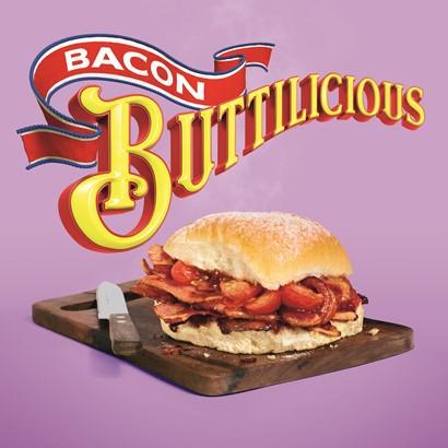 Bacon clipart bacon butty. Encona buttilicious