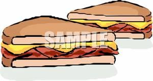 Bacon clipart bacon butty. Clip art image a