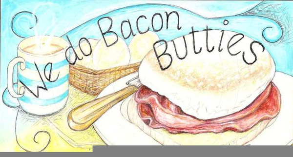 Bacon clipart bacon butty. Free images at clker