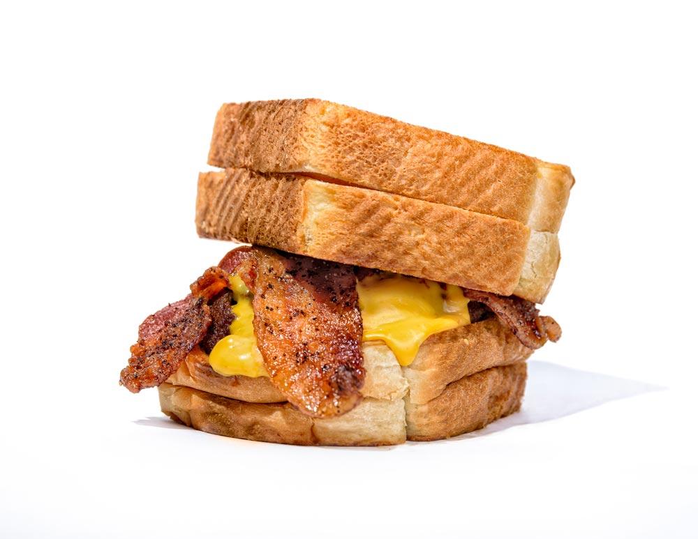 Sickies garage menu supercharged. Bacon clipart bacon cheeseburger