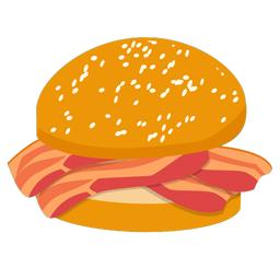 Bacon clipart bacon cheeseburger. Roll station