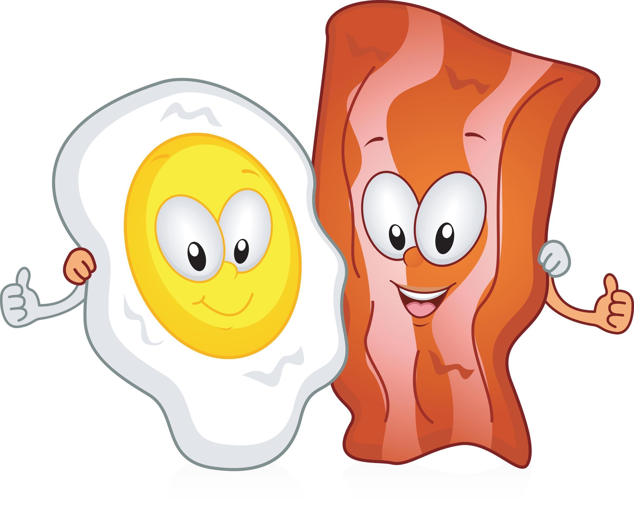 Unique design digital collection. Bacon clipart bacon egg