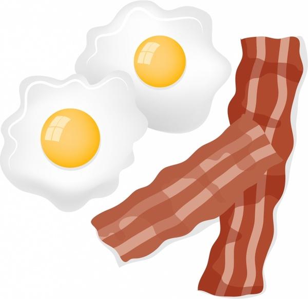Bacon clipart bacon egg. And eggs free vector