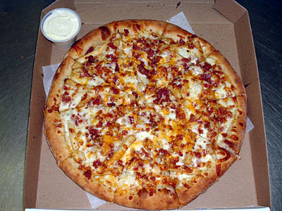 Bacon clipart bacon pizza. Adrians gourmet gallery cheese