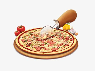 Bacon clipart bacon pizza. Hand painted cartoon png
