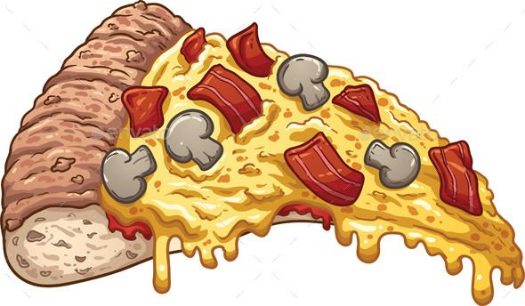 Drawings in art . Bacon clipart bacon pizza
