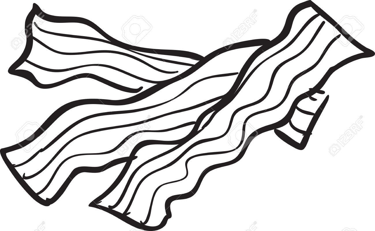 Bacon clipart bacon slice. Drawing at getdrawings com