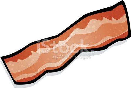 Bacon clipart bacon slice. Strip of stock vectors