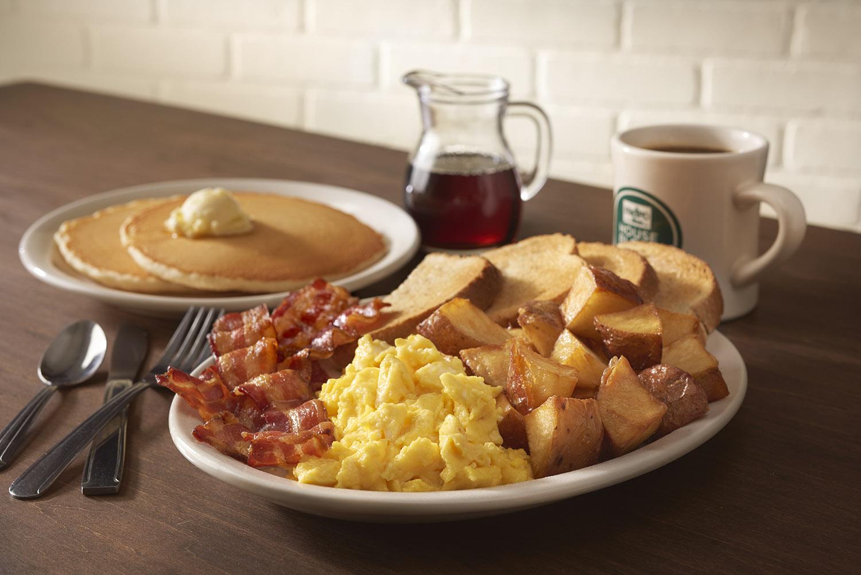 Bacon clipart balanced breakfast. Menu the metro diner