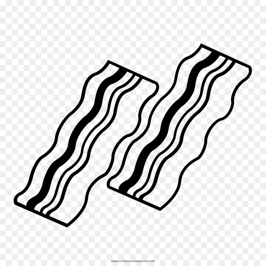 Line background drawing . Bacon clipart black and white