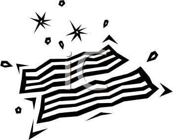 Bacon clipart black and white. Sizzling image foodclipart com