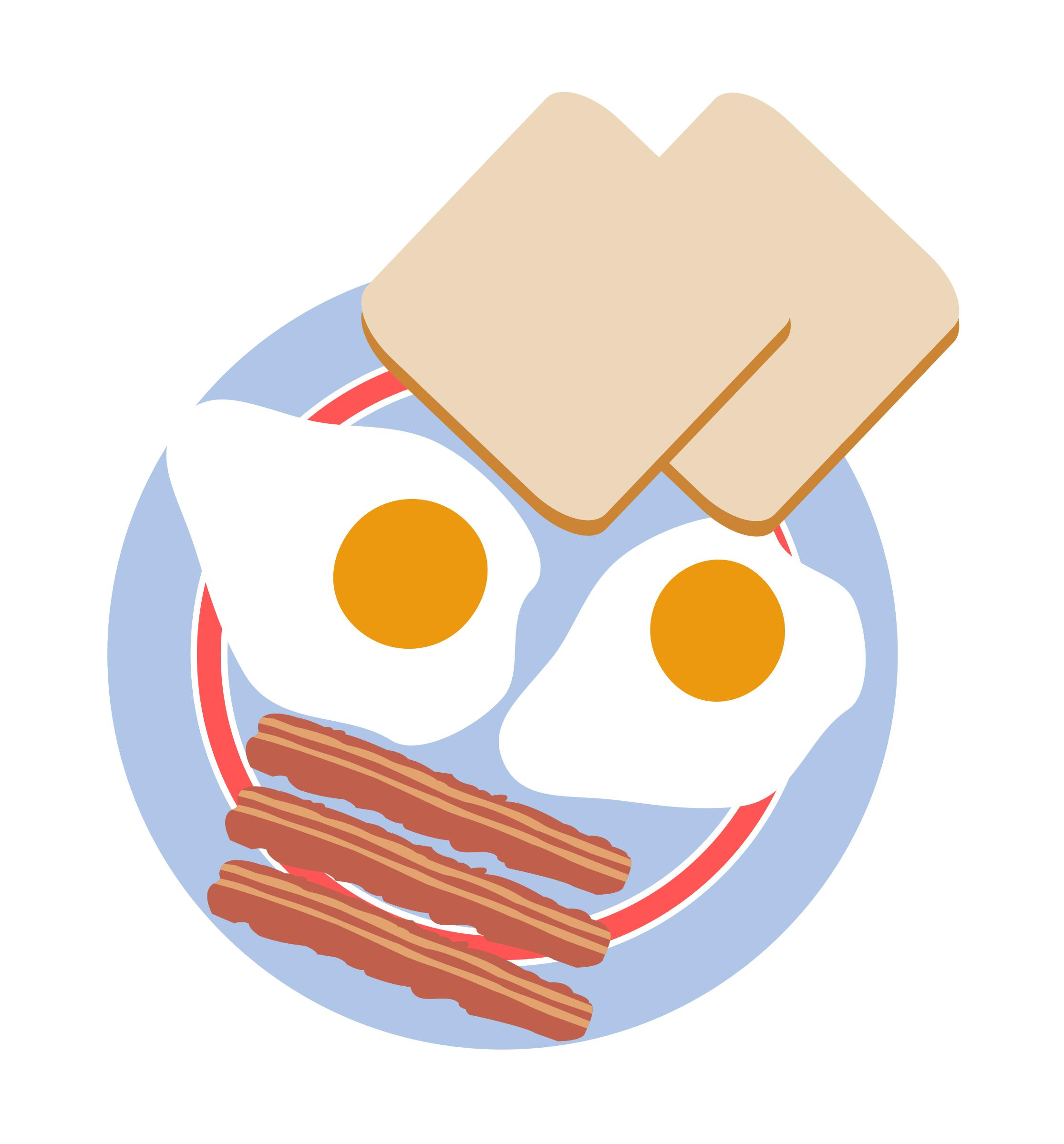 Bacon clipart breakfast. Food billionaires icons png
