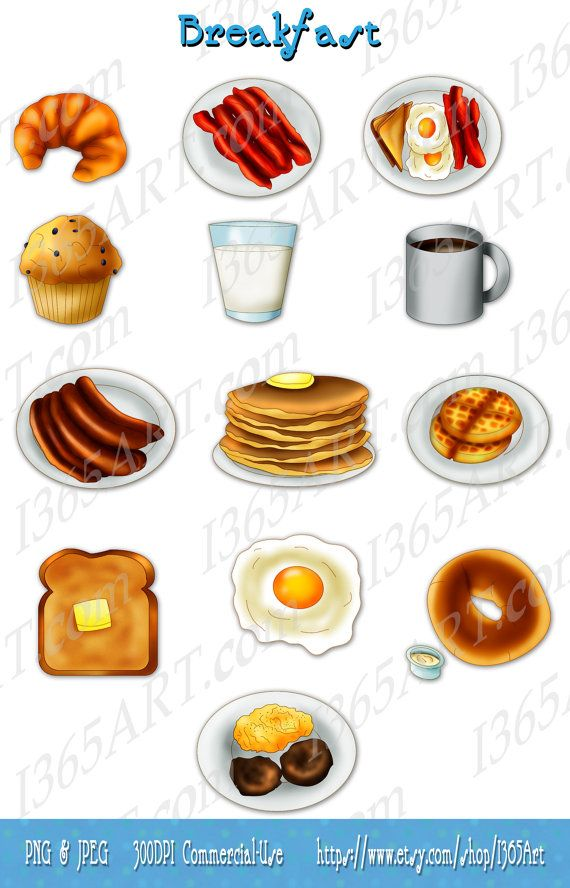 Bacon clipart breakfast. Clip art scrapbooking and