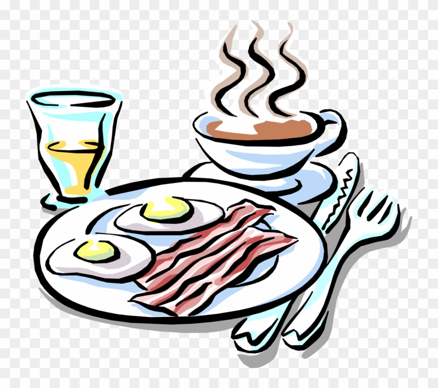 And eggs coffee eat. Bacon clipart breakfast
