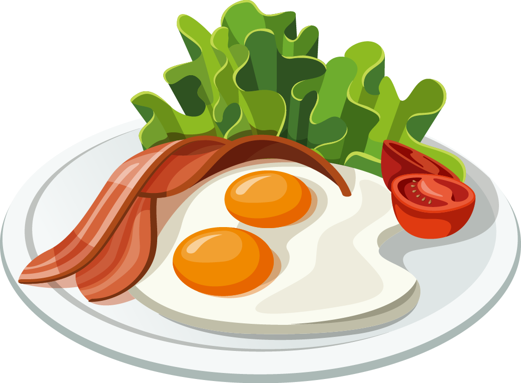 Fast food belgian waffle. Bacon clipart breakfast plate