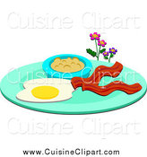 Royalty free stock cuisine. Bacon clipart breakfast plate